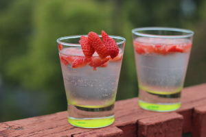 Strawberry Whip Cream Vodka Cocktail