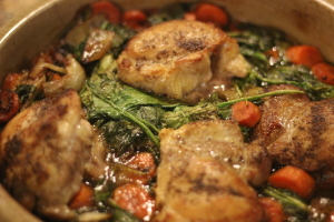 Baked Chicken with Spinach and Artichoke